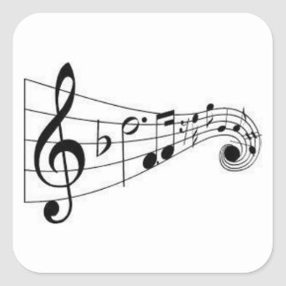 MUSICAL NOTES - MUSIC LOVER'S STICKER