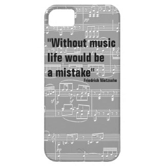 musical notes & music-themed quote case for the iPhone 5