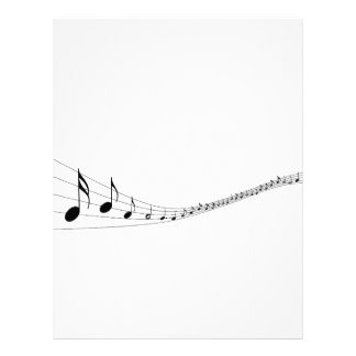 Musical notes on a wave shaped stave letterhead