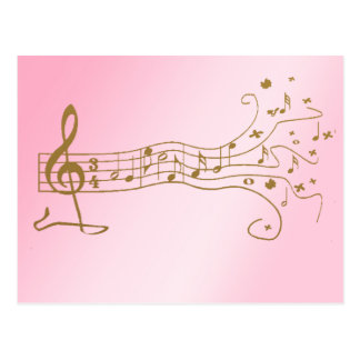 MUSICAL NOTES ON FUN  PENTAGRAM - HAPPY MUSIC GIFT POSTCARD