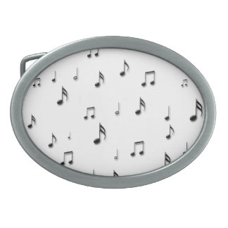 Musical Notes Oval Belt Buckle