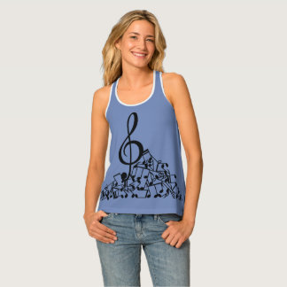 Musical Notes Pile Tank Top