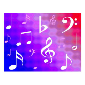 Musical notes postcard