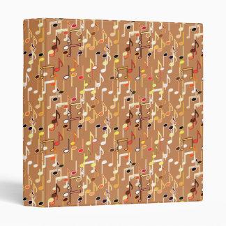 Musical Notes print - Caramel Tan, Multi Binder