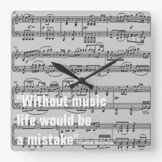 musical notes & quote clocks