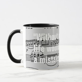 musical notes & quote mug