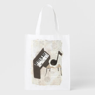 Musical Notes Reusable Bag