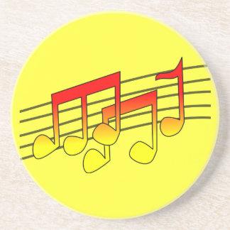 Musical Notes Sandstone Coaster