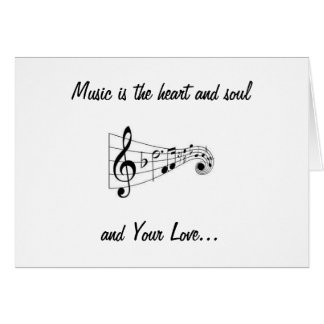 MUSICAL NOTES SENDING LOVE ON YOUR BIRTHDAY