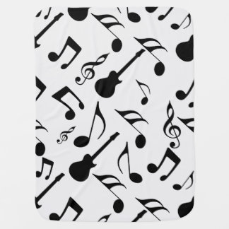 Musical Notes - Sheet Music Design Baby Blanket