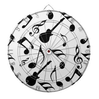 Musical Notes - Sheet Music Design Dart Board