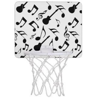 Musical Notes - Sheet Music Design Mini Basketball Backboard