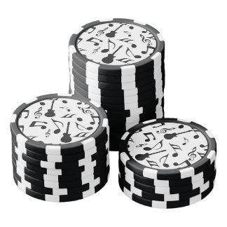 Musical Notes - Sheet Music Design Set Of Poker Chips