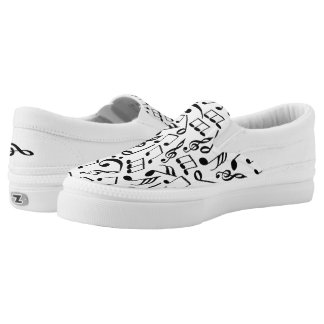 Musical Notes Slip-On Sneakers