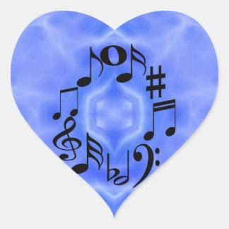 Musical Notes Heart Sticker