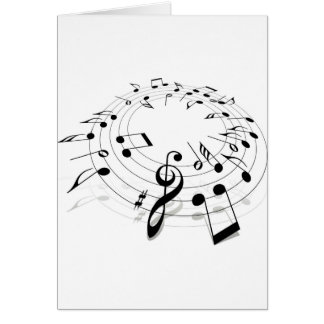 Musical Notes Swirl Greeting Card