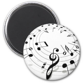 Musical Notes Swirl Magnet
