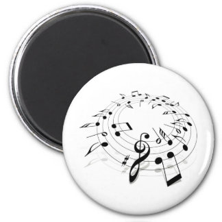 Musical Notes Swirl Magnets