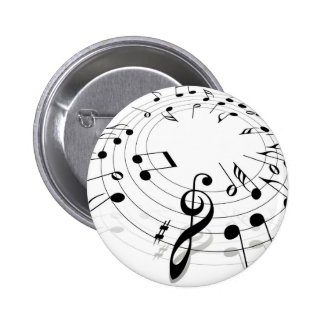 Musical Notes Swirl Pinback Buttons