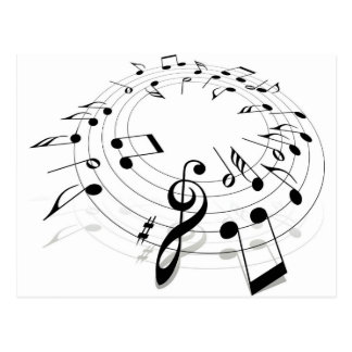 Musical Notes Swirl Postcard