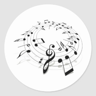 Musical Notes Swirl Stickers