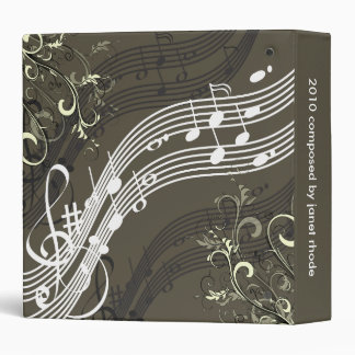 Musical notes + swirls binders, Christmas Gift
