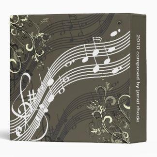 Musical notes + swirls binders, Christmas Gift Binders