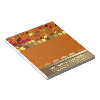 Musical Notes Texture Personalize-it Notepad