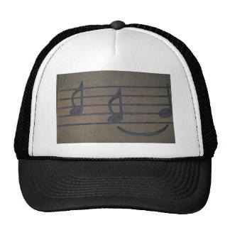 musical notes trucker hat