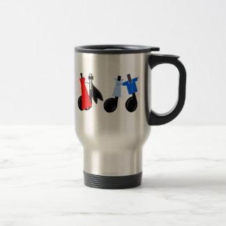 Musical Notes Wearing Clothes Travel Mug