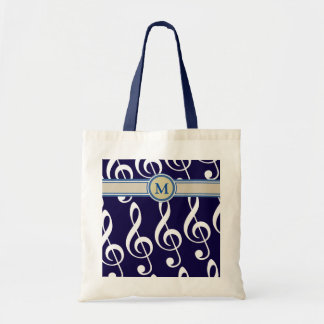musical notes with monogram