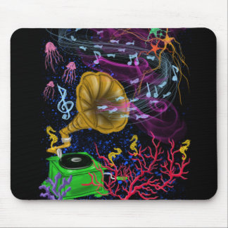 Musical Ocean Mouse Pad