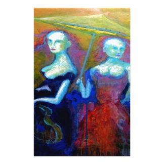 Musical Outing Painting Custom Stationery