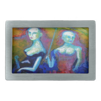 Musical Outing Painting Rectangular Belt Buckles