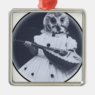 Musical Owl Metal Ornament