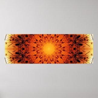 Musical Panoramic Mandala Poster