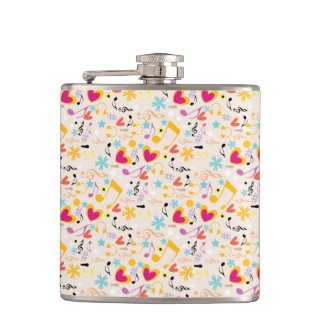 Musical Pattern in Abstract Flasks
