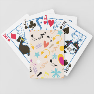 Musical Pattern in Abstract Poker Deck