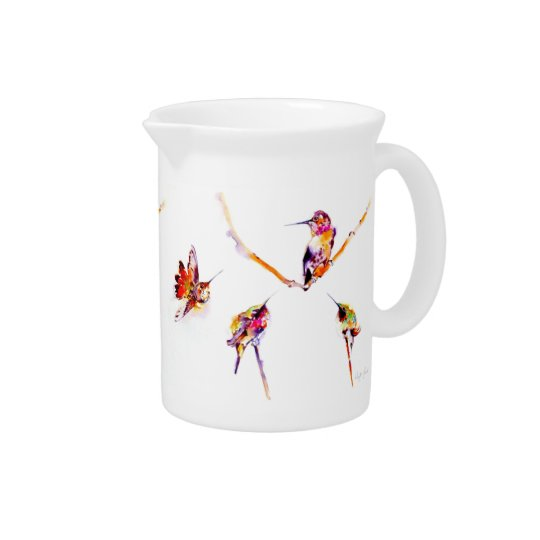 """Musical Perches"" Hummingbird Print Beverage Pitchers"