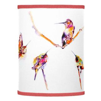 """""""Musical Perches"""" Hummingbird Print Lamp"""