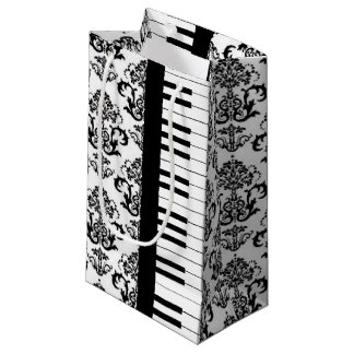 Musical Piano Keys & Damask Design Gift Bag