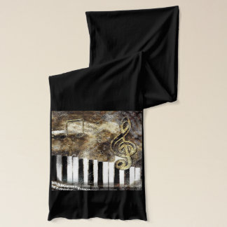 Musical Piano Keys Scarf