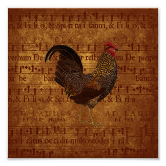 Musical Rooster Poster