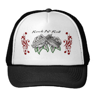 musical roses and a pistol trucker hat