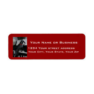 Musical Schnauzer Return Address Label