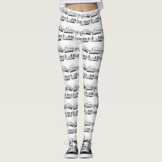 Musical Score Leggings