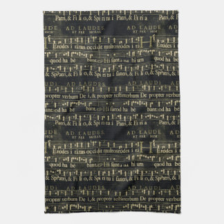 Musical Score Old Chalkboard Design Kitchen Towel