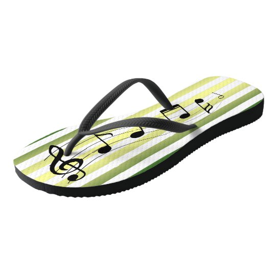 Musical Scroll ~ G-Clef & Notes ~ Music ~ Party ~ Flip Flops
