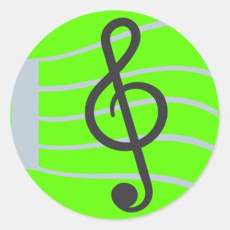 Musical Sheet Emoji Classic Round Sticker
