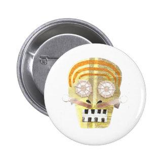 Musical Skull Badge 2 Inch Round Button